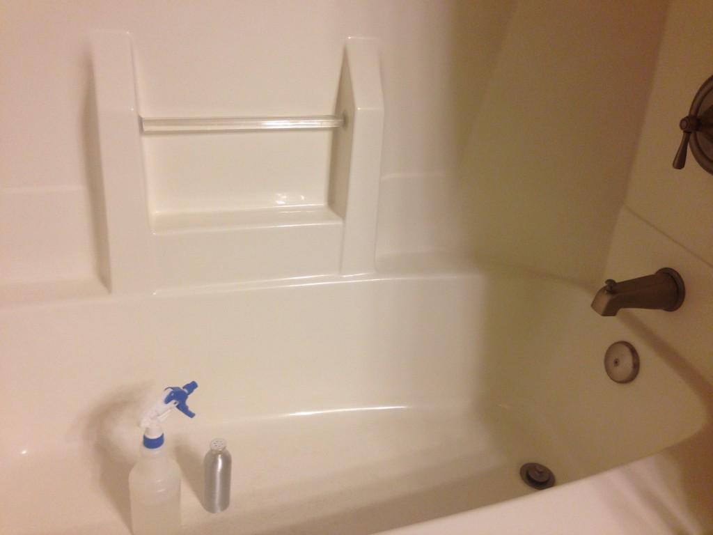 Just-cleaned bathroom
